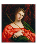 St. Catherine, 1522 Prints by Lorenzo Lotto