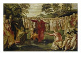 Moses Striking Water from the Rock Giclee Print by Jacopo Robusti Tintoretto