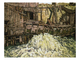 Die Muehle, 1916 Art by Egon Schiele