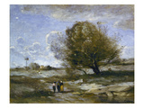 Landscape in Picardie Posters by Jean-Baptiste-Camille Corot