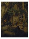 The Minstrel and the Hermit, about 1846 Giclée-Druck von Moritz Von Schwind