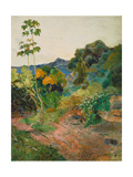 Martinique Landscape (Tropical Vegetation), 1887 Poster by Paul Gauguin