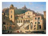 Der Domplatz Von Amalfi, 1859 Giclee Print by Leo Von Klenze