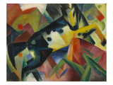 Horse Jumping, 1912 Art by Franz Marc