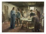 Komm Herr Jesu, Sei Unser Gast, 1885 Giclee Print by Fritz von Uhde