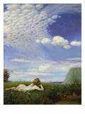 The Lark, 1882/83 Giclee Print by Paul von Szinyei-Merse