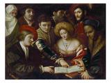 Musikalische Unterhaltung Giclee Print by Sebastiano Florigherio