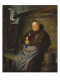 Brother Master Brewer in the Beer Cellar, 1902 Giclee Print by Eduard Grutzner