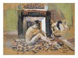 Nude Near a Fireplace Giclée-Druck von Edouard Vuillard