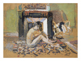 Nude Near a Fireplace Kunstdrucke von Edouard Vuillard