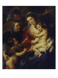 The Holy Family with St. Elizabeth and the Infant St. John the Baptist, 1632/34 Giclee Print by Peter Paul Rubens