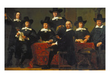 The Provosts of the Wine Merchant Guild of Amsterdam, 1659 Print by Ferdinand Bol