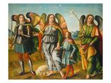 Tobias Und Die Drei Erzengel Giclee Print by Francesco Botticini