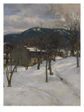 Winter Landscape Near Kuttering, 1899 Giclee Print by Johann Sperl