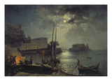 Mondnacht in Neapel, 1828 Giclee Print by Silvester Stschedrin