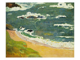 The Beach Near Le Pouldu, 1889 Giclee Print by Paul Gauguin