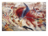 The City Rises, 1910 Giclee Print by Umberto Boccioni