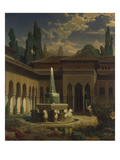 Court of the Lions at the Alhambra, 1860 Giclee Print by Eduard Gerhardt