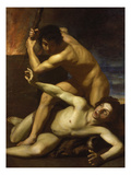 Cain Murdering Abel, about 1615 Giclée-tryk af Bartolomeo Manfredi