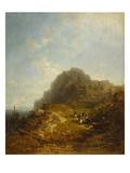 Mountain Hike Gicléetryck av Carl Spitzweg
