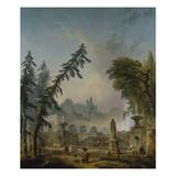 Parklandschaft, 1773 Impression giclée par Hubert Robert