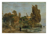 Villa by the Sea, 2. Version, 1865 Giclee Print by Arnold Bocklin