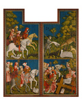 Cross Altar from Polling, Left and Right Inner Panel, Legend of Tassilo Giclee Print by  Master of the Pollinger Plates