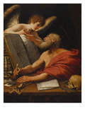 St. Hieronymus and the Cherub, about 1600-1624 Giclee Print by  Bolognese School