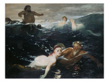 Amid the Waves, 1883 Prints by Arnold Bocklin