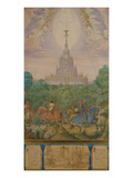 The Temple of the Grail from the Parsifal-Cycle Giclée-Druck von Edward Jakob Von Steinle