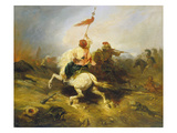 Turkish Standard Bearer Giclee Print by Alexandre Gabriel Decamps