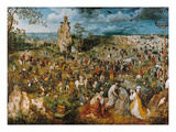 Christ Bearing the Cross, 1569 Kunst von Pieter Bruegel the Elder