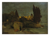Villa by the Sea (First Version), about 1864 Giclee Print by Arnold Bocklin