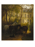 Before Riding, 1871 Giclee Print by Franz Adam