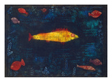 The Golden Fish, 1925 Posters par Paul Klee