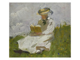 Reading Woman in the Countryside, 1906 Print by Franz Marc