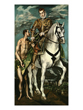 Saint Martin and the Beggar, 1600/14 Giclee Print by  El Greco
