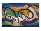 Sheep, 1912 Impression giclée par Franz Marc