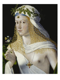 Idealized Portrait of a Courtesan as Flora, about 1520/25 Giclee Print by  Bartolomeo Veneto