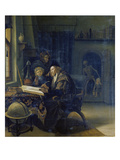 Scholar at the Study-Desk. after 1665 Prints by Jan Steen