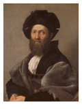 Portrait of Baldassare Castiglione, about 1514/15 Reproduction procédé giclée par Raphael