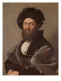 Portrait of Baldassare Castiglione, about 1514/15 Reproduction procédé giclée par  Raphael
