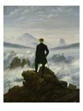 Caspar David Friedrich - The Wanderer Above the Sea of Fog, about 1818 Digitálně vytištěná reprodukce