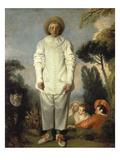 Gilles, about 1718-19 Giclée-tryk af Jean Antoine Watteau