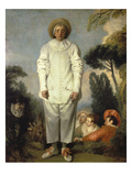 Gilles, about 1718-19 Giclee Print by Jean Antoine Watteau