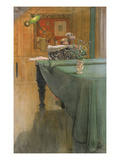 Young Girl at the Piano, 1908 Giclée-tryk af Carl Larsson