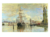 The Seine in Rouen, 1874 Giclee Print by Claude Monet