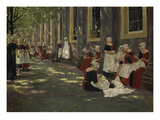 Free Period in the Amsterdam Orphanage, 1881/1882 Giclee Print by Max Liebermann