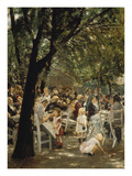 A Munich Beer Garden, 1883/84 Giclee Print by Max Liebermann