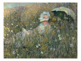 In the Flowering Meadow (Dans La Prairie), 1876 Giclee Print by Claude Monet
